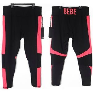 Bebe Sport Color Block Contour Leggings